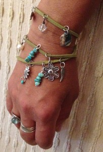 From the new line of wrap charm bracelets.