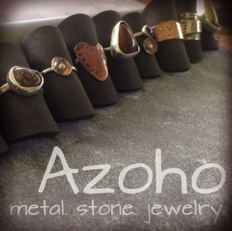 azoho: metal. stone.  jewelry.