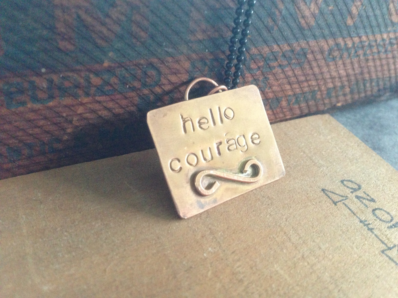 hello courage necklace