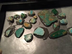 Backing Turquoise Process