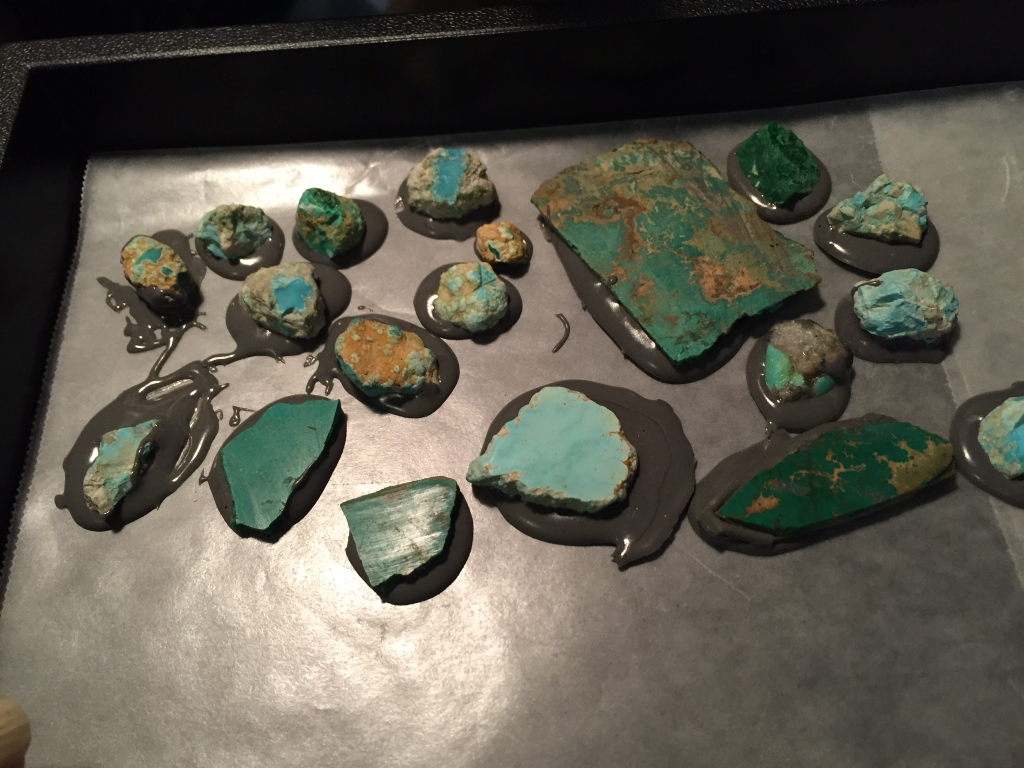 Backing Turquoise Process
